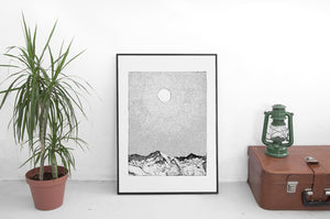 Mountain and Sun, Fine Art Print
