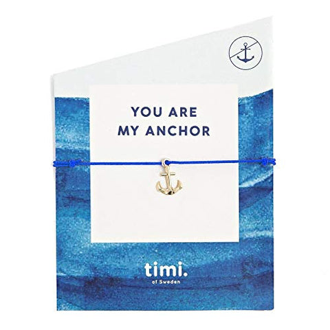 'You Are My Anchor' Silver Anchor Charm Wish/ Friendship Bracelet
