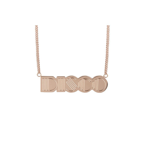 DISCO Rose Gold Plated Pendent by Esa Evans