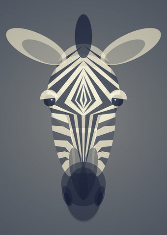Zebra Art Print by Cloud Cuckoo design
