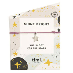 'Shine Bright' Silver Star Charm Wish/Friendship Bracelet