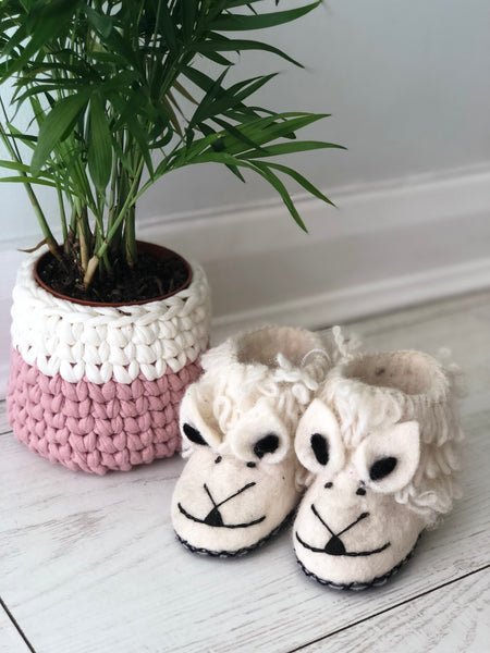 Wooly Wonderful Sheep Slippers for children