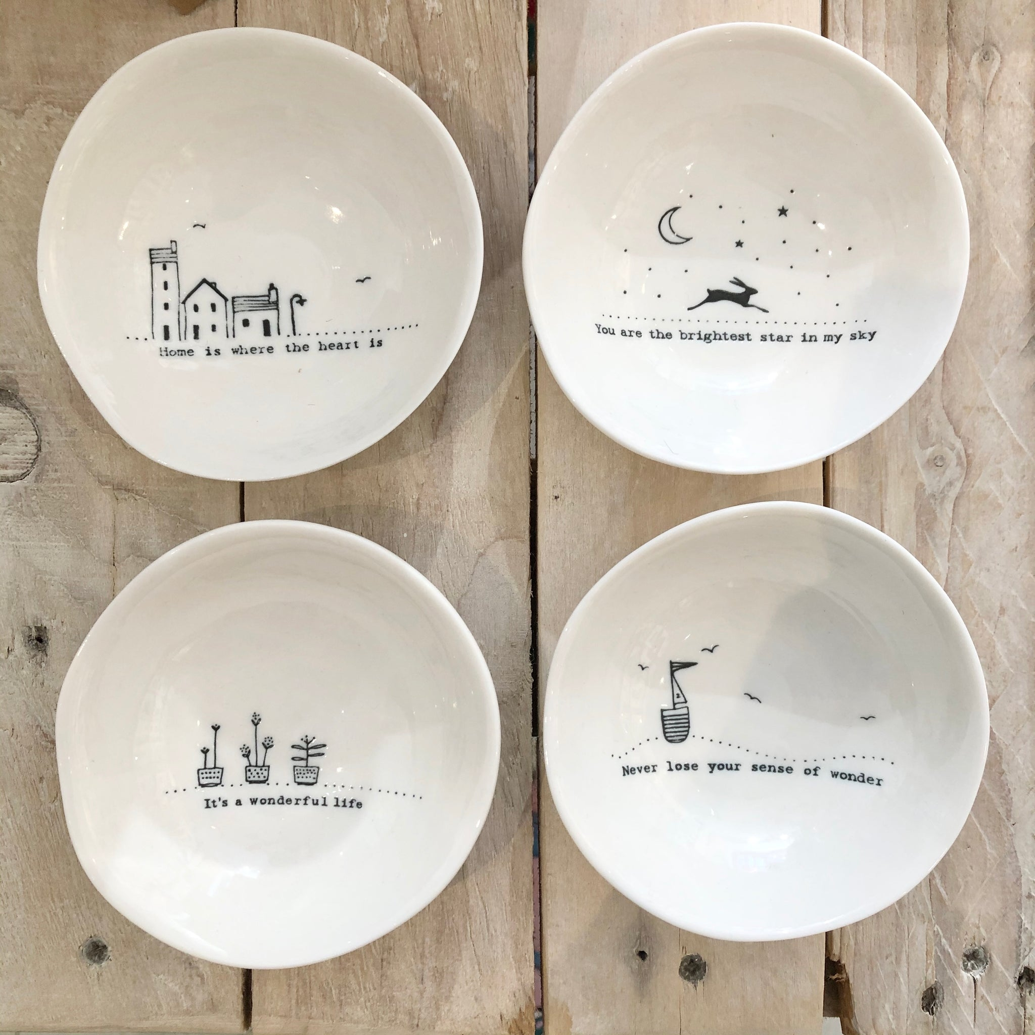Porcelain Trinket Dishes