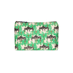 Zebra & Palm Make-Up Bag