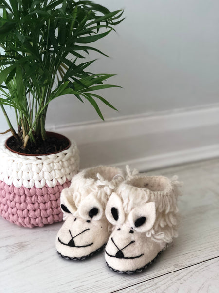 Wooly Wonderful Children's Sheep Slippers