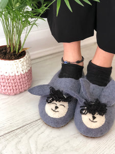 Ewe Have Really Got Me Going Felt Sheep Slippers - Adult Sizes