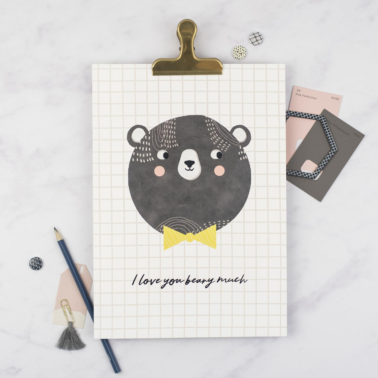 'I love you beary much' Art Print