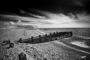 'Towards Seven Sisters' Black and White Photographic Print