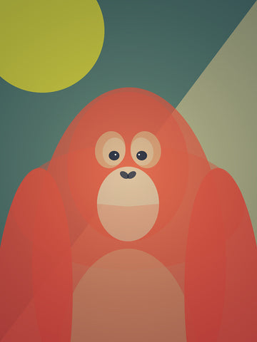 Orangutan Art Print by Cloud Cuckoo design
