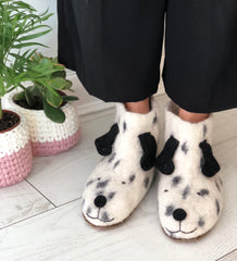 Fabulous Felted Dog Slippers for Adults