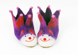 Felt animal slippers