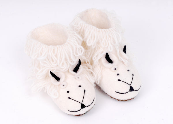 Felt sheep slippers