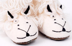 Felt sheep slippers for children