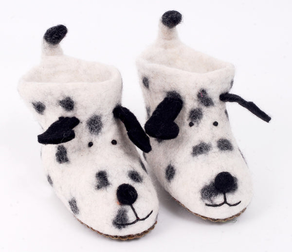 Felt spot the dog slippers