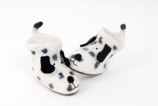 Felt doggie slippers