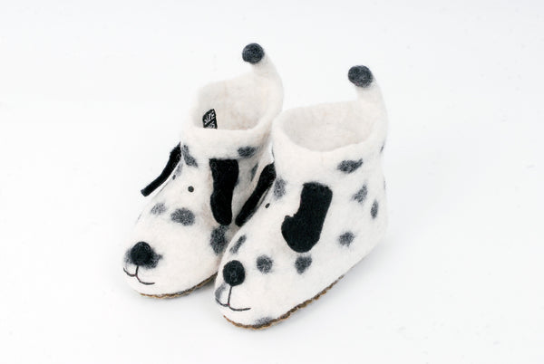 Blck and white dog booties