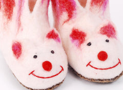 Felt animal slippers for children