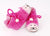 Pink cat slippers for children