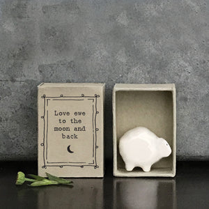 Matchbox Sheep -Love ewe to the moon and back