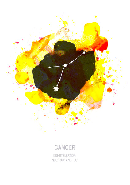 Cancer Constellation Art Print, Zodiac Sign Art Print