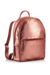 Rose Gold Backpack, Leather Shoulder Bag