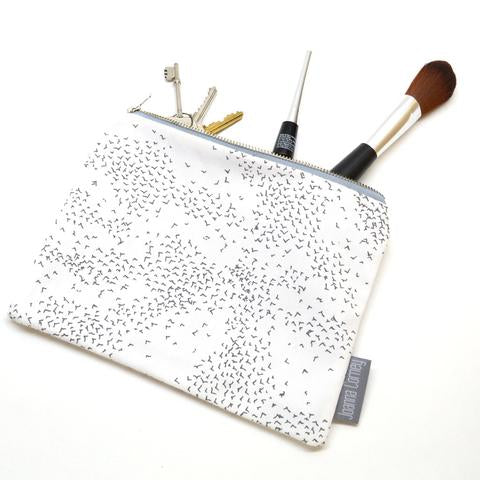 Starling Murmuration Zipper Purse
