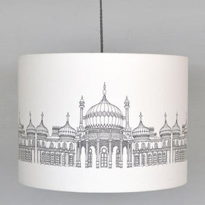 Royal Pavilion Lampshade on Ivory