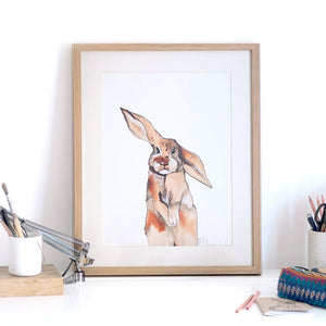 'Be My Bunny' Art Print
