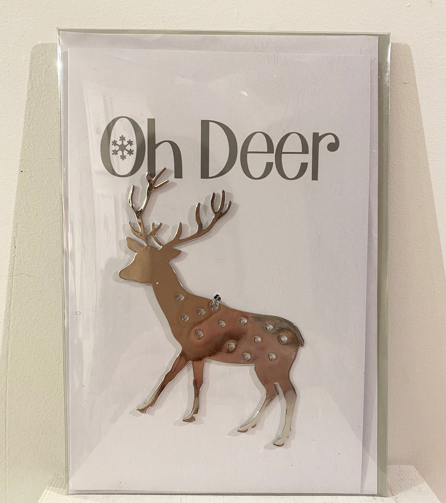 """Oh Deer"" Reindeer Decoration and card"