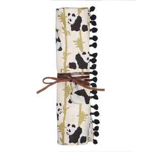 Panda and Bamboo Jewellery Roll