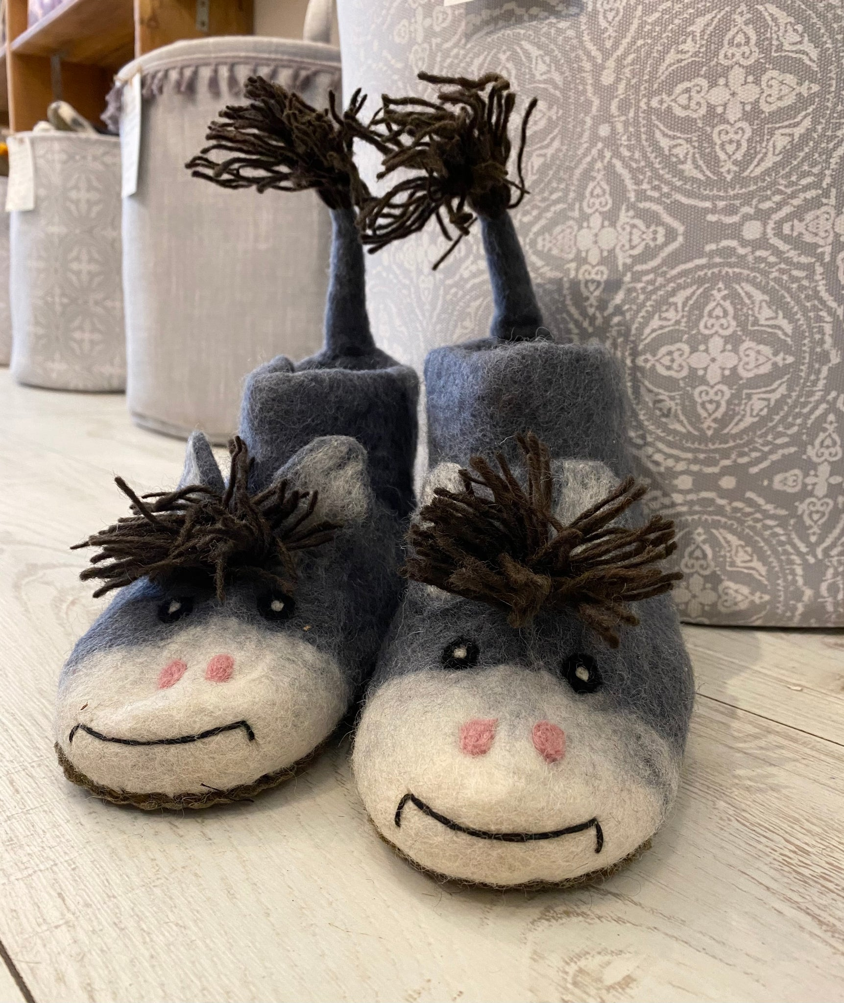 Felted Horse Slippers - Adult Sizes