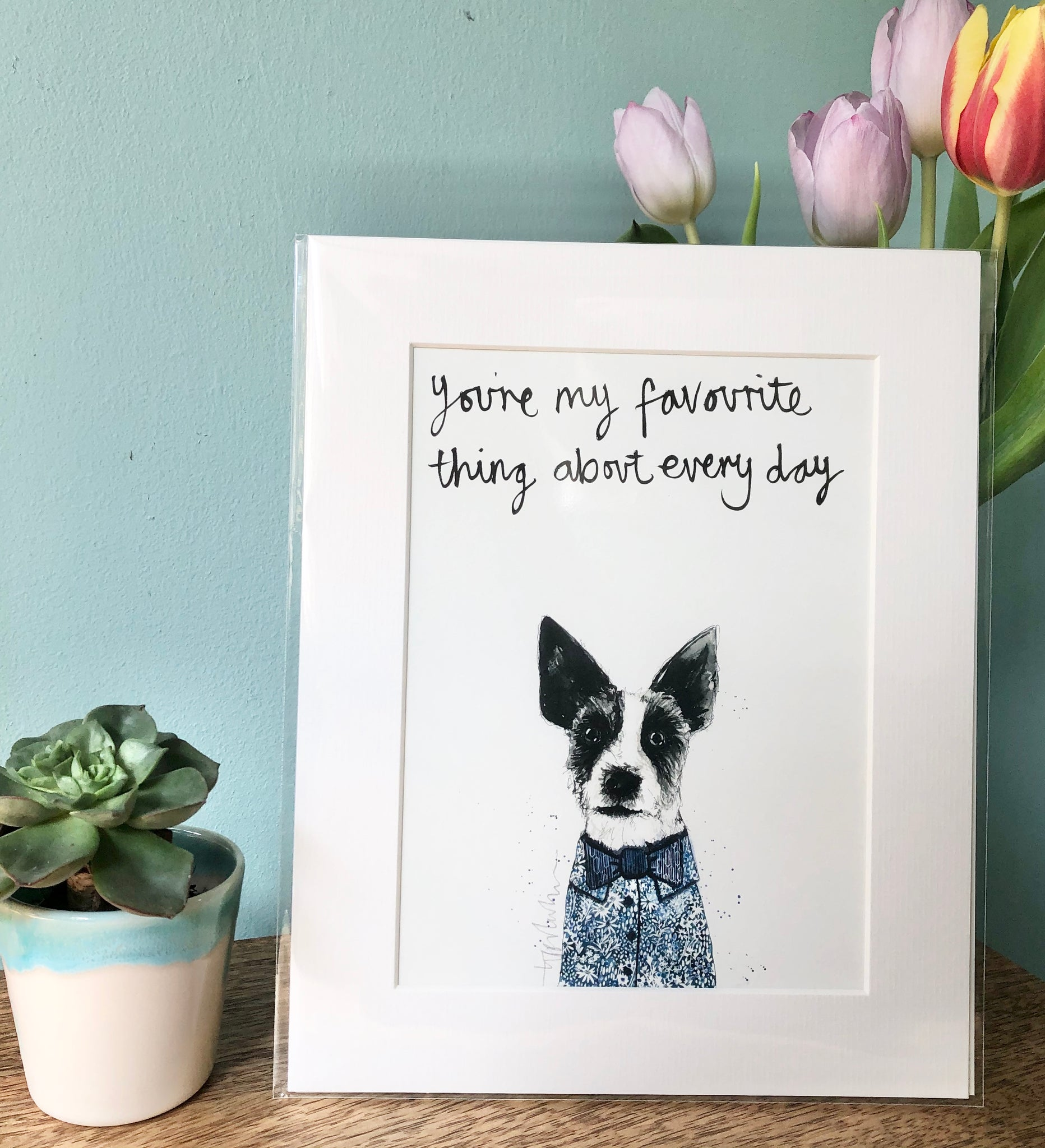"""You're my favourite thing about everyday"" Jack Russell Art Print"