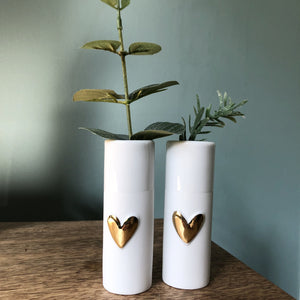 Mini Heart Vases Set of Two