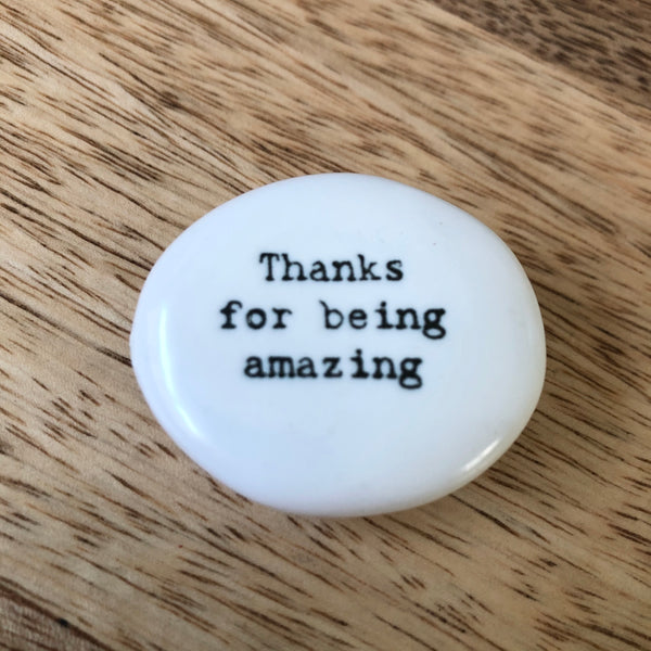 'Thanks for being amazing'