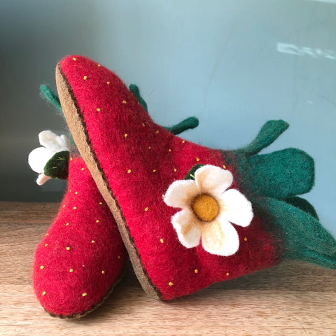 Fruity Booty Strawberry Slippers - Adult Sizes