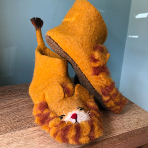 The Mane Event Felted Lion Slippers - Adult Sizes