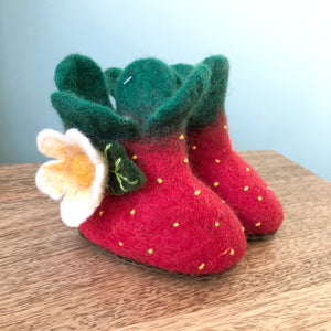 Berry Sweet Strawberry Children's Slippers