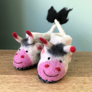 It's Pasture Bedtime Children's Cow Slippers