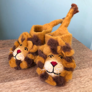 Totally Roarsome Felted Children's Booties