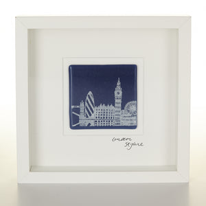 """London Skyline"" Glass Tile Picture"