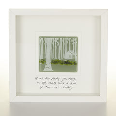 """Muddy Paths"" Glass Woodland Picture"