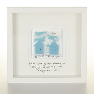 Personalised Glass Beach Hut Picture