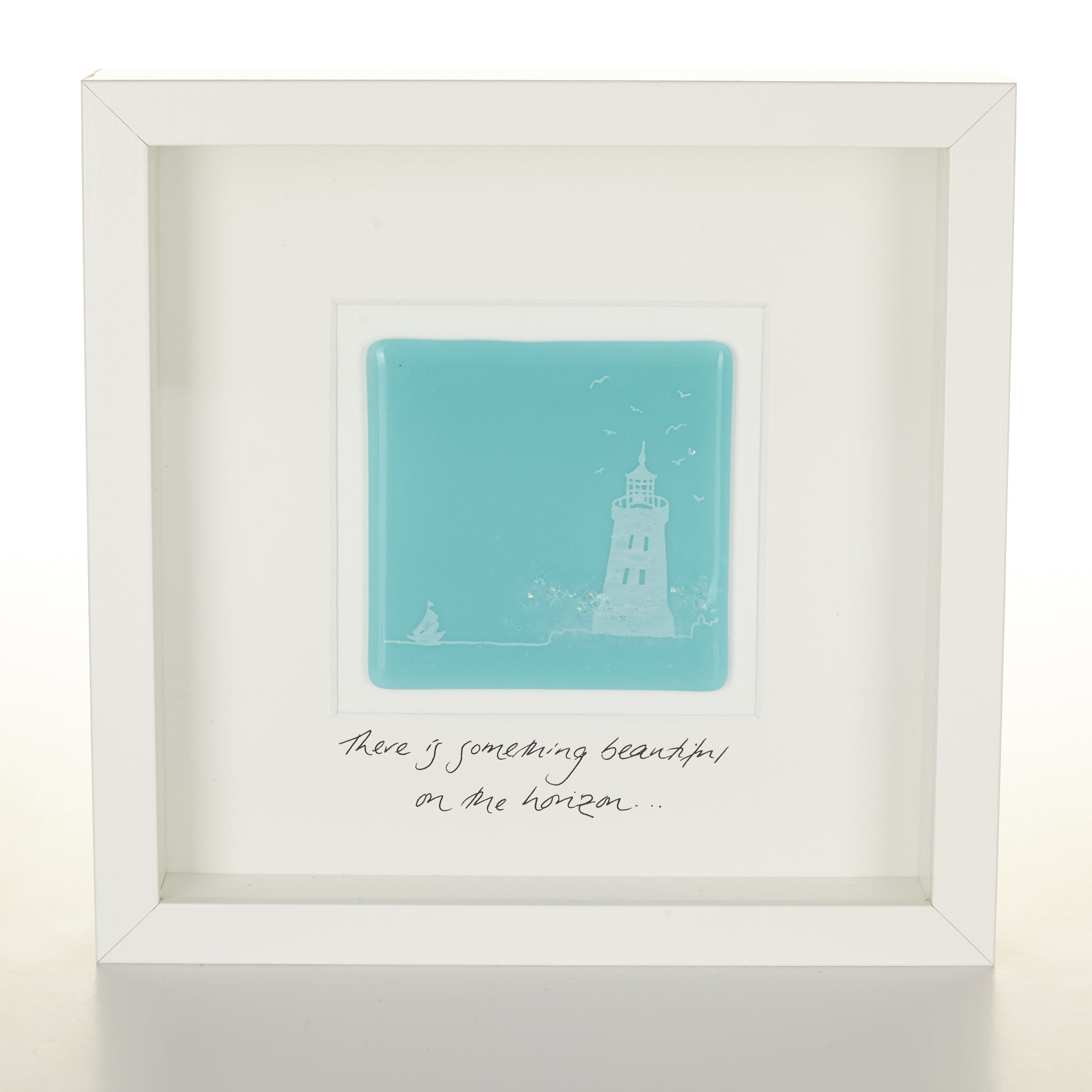 """On the Horizon"" Glass Lighthouse Picture"
