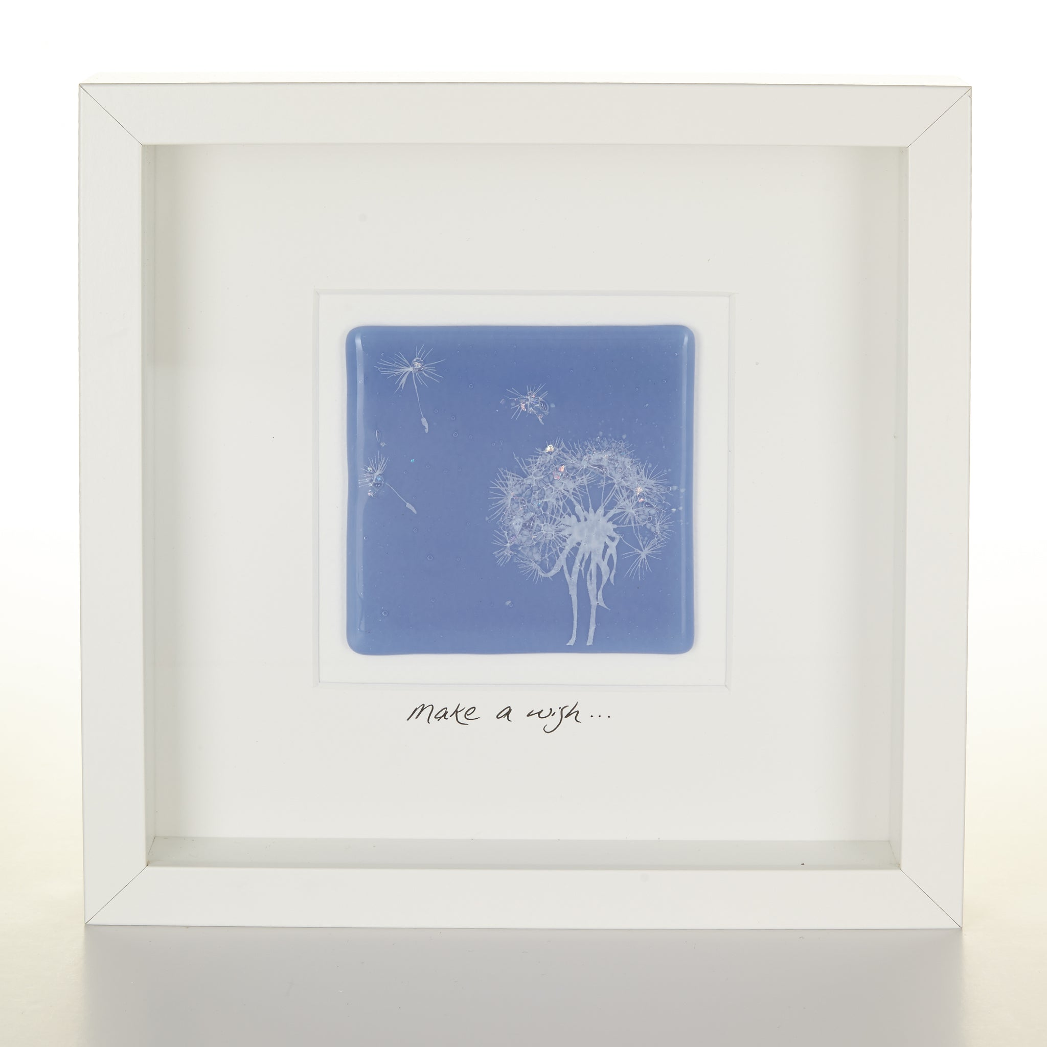 """Make a Wish"" Glass Dandelion picture"