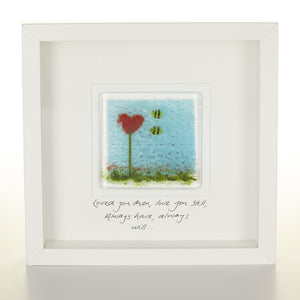 """Always Love You"" Glass Bee Picture"
