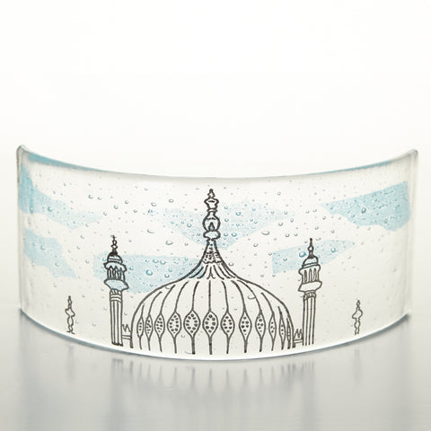 Curved Glass Light Catcher, Brighton Pavilion, Glass Art