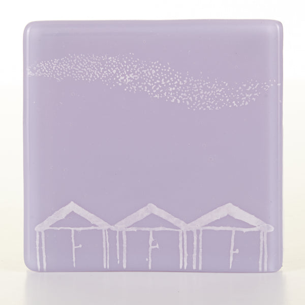 Beach Hut and Murmuration Coaster, white