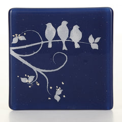 Three Birds Glass Coaster