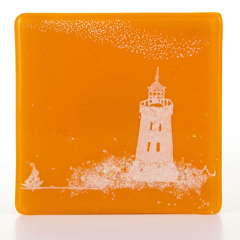 Lighthouse Glass Coaster