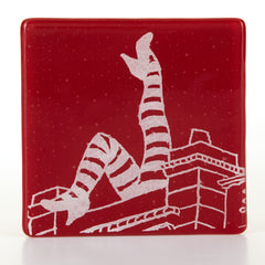 Duke of York's Legs Coaster, Handmade Glass Coaster